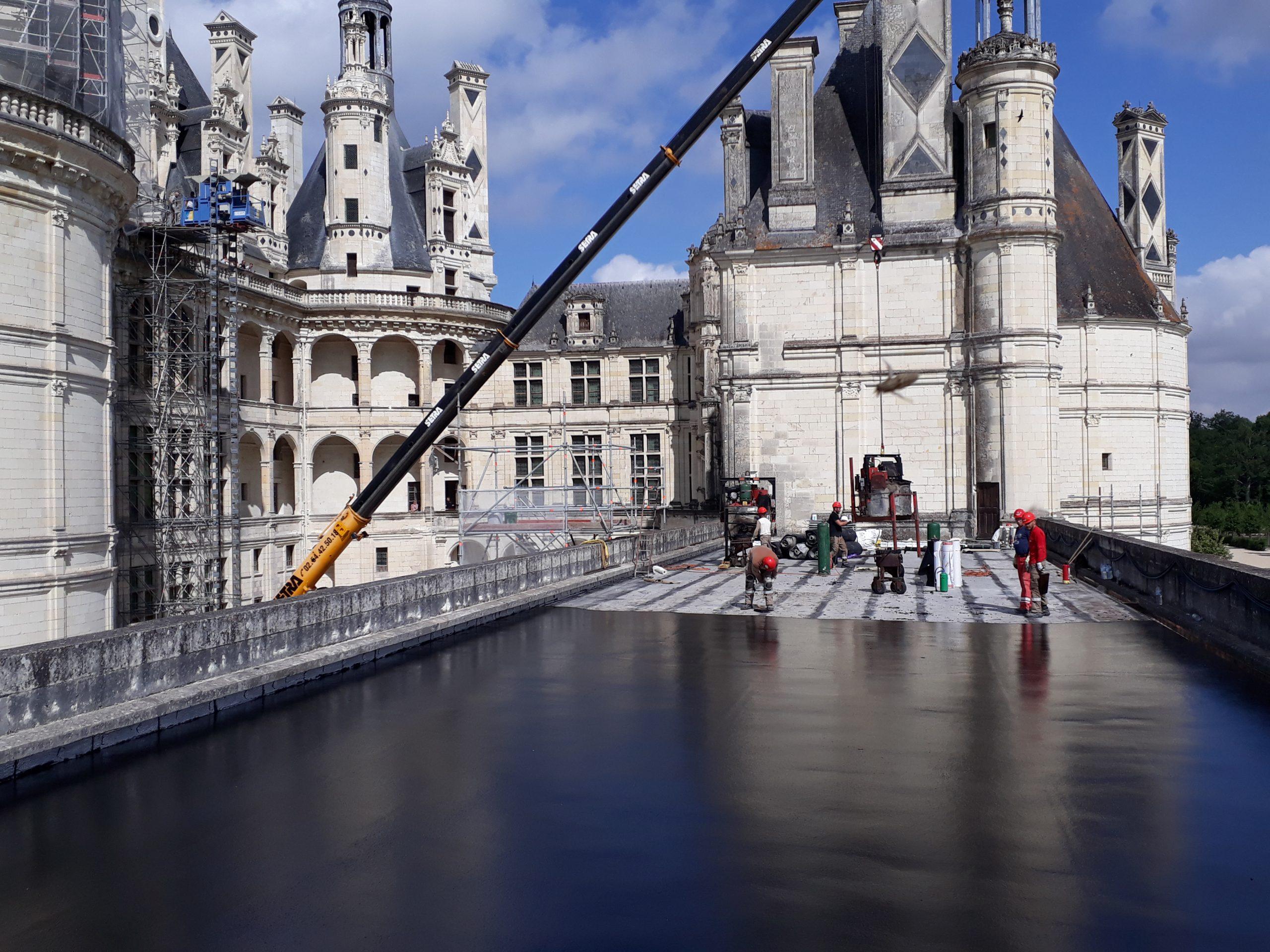 Chateau de Chambord : étanchéité par SMAC Blois